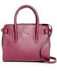 Furla - Pin Leather Mini Satchel - Lyst