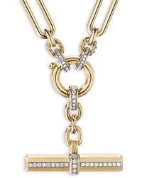 David Yurman Lexington Chain Necklace In 18k Yellow Gold With Diamonds - Metallic