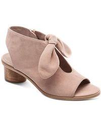 Bernardo - Women's Knotted Suede Peep Toe Sandals - Lyst