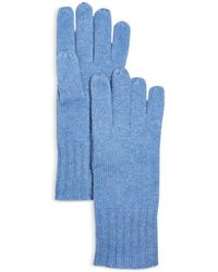C By Bloomingdale's Cashmere Gloves - Blue