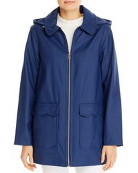 Kate Spade Scallop Trim Coat - Blue