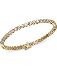 Bloomingdale's Diamond Tennis Bracelet In 14k Yellow Gold - Multicolour