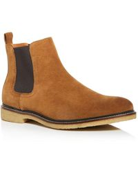 Bloomingdale's Men's Leather Chelsea Boots - Brown