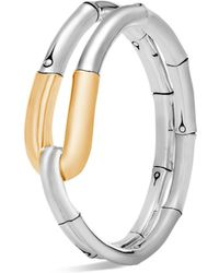 John Hardy - 18k Yellow Gold And Sterling Silver Bamboo Flex Cuff - Lyst