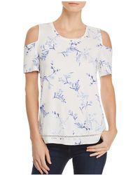 Lyssé - Mira Cold-shoulder Floral Top - Lyst