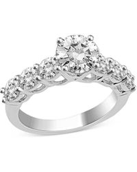 Bloomingdale's Certified Diamond Engagement Ring In 14k White Gold