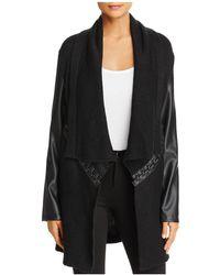 Bagatelle - Draped Lace Up Sweater Jacket - Lyst