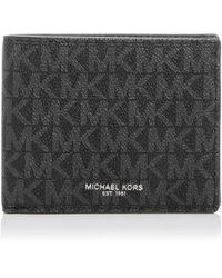 Michael Kors Greyson Logo-print Passcase Wallet - Black