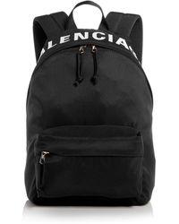 Balenciaga Wheel Small Backpack - Black
