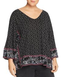 Lucky Brand - Printed & Draped Top - Lyst
