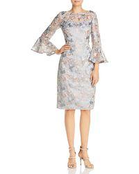 Eliza J - Embroidered Mesh Illusion Dress - Lyst