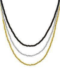 Aqua Sterling Layered Sparkle Necklace - Multicolour