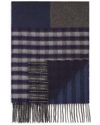 Bloomingdale's Patchwork Scarf - Blue