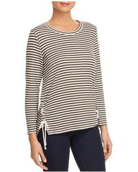 Status By Chenault - Striped Lace-up Top - Lyst