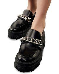 The Kooples Platform Chain Loafer - Black