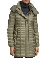 Marc New York Marble Packable Hooded Puffer Coat - Green