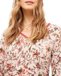 Gerard Darel Electra Floral Print Jumper - Pink