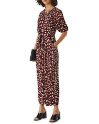 Whistles Abstract Floral Jumpsuit - Purple