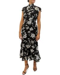 Sam Edelman Modern Elegant Flower Maxi Dress - Black