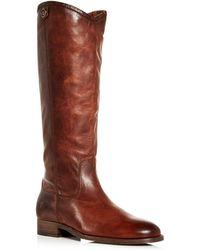 Frye - Women's Melissa Button 2 Extended Calf Leather Tall Boots - Lyst