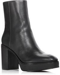Aqua Women's Nessa Platform Booties - Black