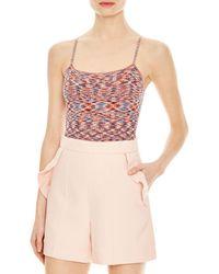 Sandro Hazel Multicolour Knit Bodysuit - Orange