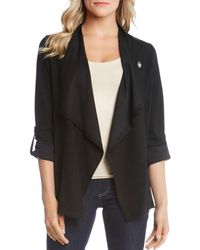 Karen Kane - Draped Wrap Jacket - Lyst