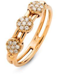 Hulchi Belluni - 18k Rose Gold Tresore Diamond Trio Ring - Lyst
