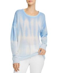 C By Bloomingdale's Cashmere Tie - Dyed Jumper - Blue