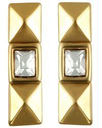 Karl Lagerfeld - Pyramid Stud Earrings - Lyst