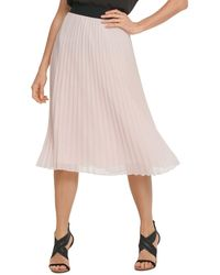 DKNY Pull - On Pleated Skirt - Pink