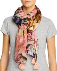 Echo Tropical Floral Wrap - Pink