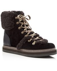 See By Chloé Shearling Booties - Black