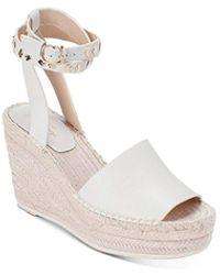 Kate Spade Women's Frenchy Platform Wedge Sandals - White
