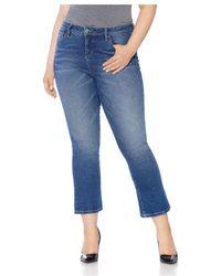 Slink Jeans Plus Flared Jeans In Nikka - Blue