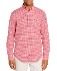 Vineyard Vines Tucker Gingham Classic Fit Button - Down Shirt - Red