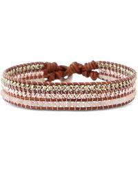 Chan Luu Leather & Mixed Stone Button Bracelet - Multicolour