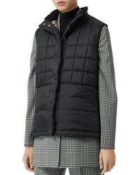 Burberry - Quilted Puffer Vest - Lyst