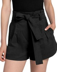 A.L.C. Joey Paperbag Shorts - Black