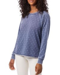 Alternative Apparel Lazy Day Printed Sweatshirt - Blue