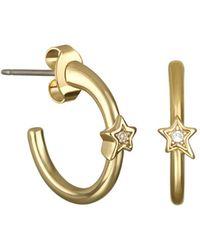 Karl Lagerfeld - Mini Star Hoop Earrings - Lyst