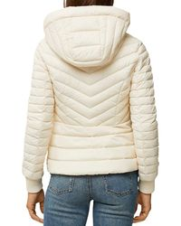 SOIA & KYO Chalee Lightweight Hooded Puffer Jacket - Natural