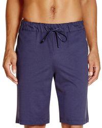 Hanro Night And Day Knit Shorts - Blue