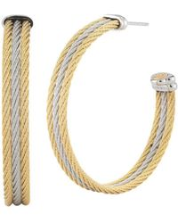 Alor - Two-tone Cable Hoop Earrings - Lyst
