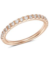 Bloomingdale's Diamond Shared Prong Stacking Band In 14k Rose Gold - Multicolour