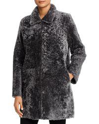 Maximilian Reversible Lamb Shearling Coat - Gray