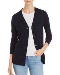 C By Bloomingdale's Cashmere Grandfather Cardigan - Blue