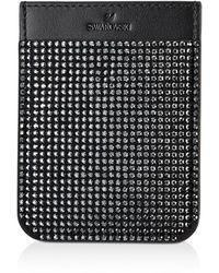 Swarovski Smartphone Sticker Pocket - Black