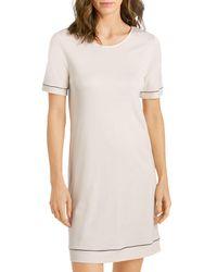 Hanro Natural Comfort Short Sleeve Nightgown - Multicolour
