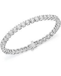Bloomingdale's Certified Diamond Tennis Bracelet In 14k White Gold